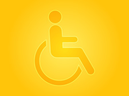 specify: Handicap symbol illustration icon of wheelchair clipart Stock Photo