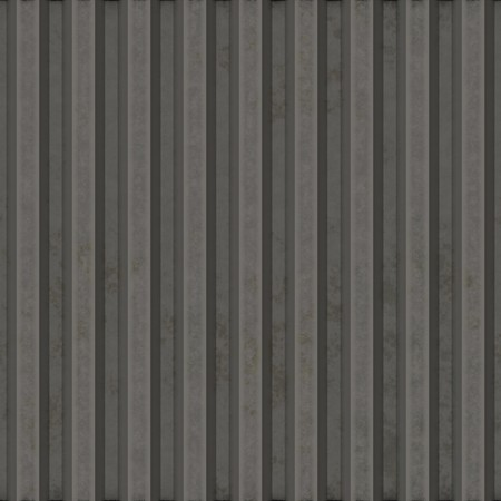 corrugated iron: Corrugated metal surface with corrosion seamless texture