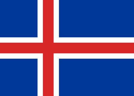Flag of Iceland, national country symbol illustration illustration