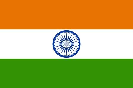 bandera de la india: Bandera de la India, pa�s s�mbolo nacional de ilustraci�n