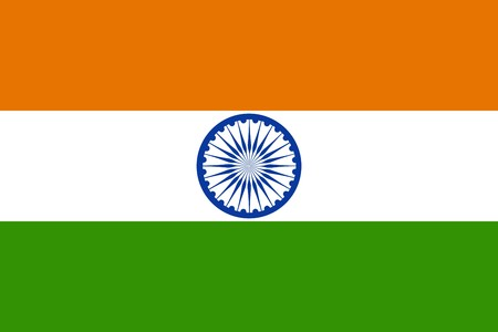 india flag: Flag of India, national country symbol illustration