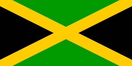 Flag of Jamaica, national country symbol illustration illustration