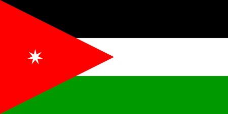 jordan: Flag of Jordan, national country symbol illustration Stock Photo