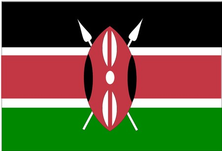 kenya: Flag of Kenya, national country symbol illustration