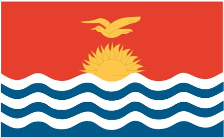 kiribati: Flag of Kiribati , national country symbol illustration