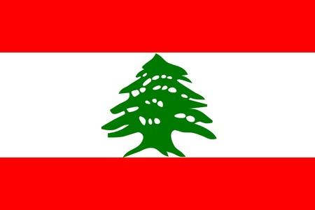 Flag of Lebanon, national country symbol illustration Stock Illustration - 3972893