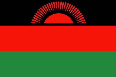 malawi: Flag of Malawi, national country symbol illustration