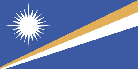 marshall: Flag of Marshall Islands, national country symbol illustration