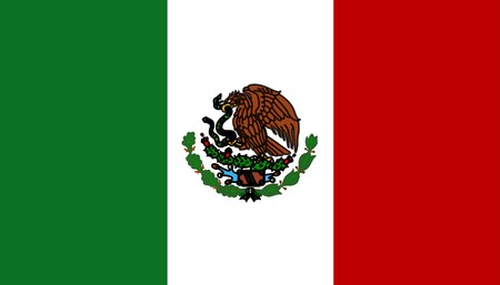 Flag of Mexico, national country symbol illustration Stock Illustration - 3972919