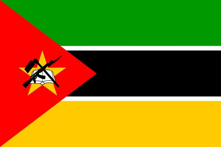 Mozambique: Flag of Mozambique, national country symbol illustration Stock Photo