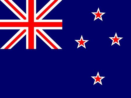 Flag of New Zealand, national country symbol illustration illustration