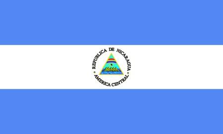 Flag of Nicaragua, national country symbol illustration illustration
