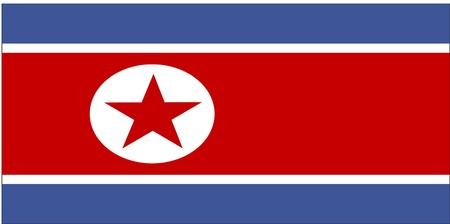 Flag of North Korea, national country symbol illustration illustration