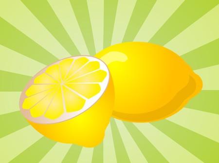 juicy: Orange fruit, whole and sliced half, illustration Stock Photo