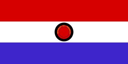 Flag of Paraguay, national country symbol illustration illustration