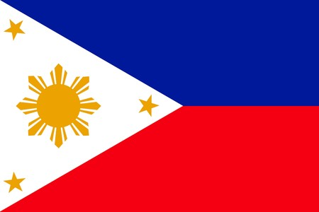 philippines: Flag of Philippines, national country symbol illustration