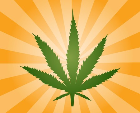 Hoja de marihuana cannabis ilustraci�n, dise�o abstracto s�mbolo Foto de archivo - 3981057