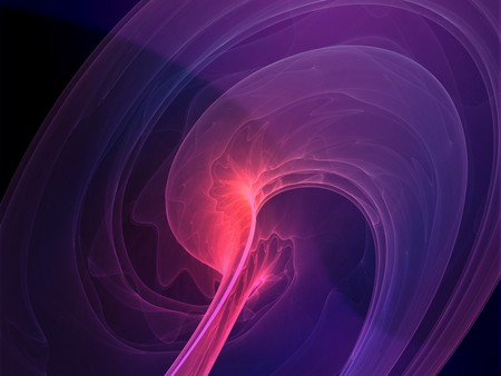 Abstract wallpaper illustration of wavy flowing energy and colors Stock Illustration - 3981182