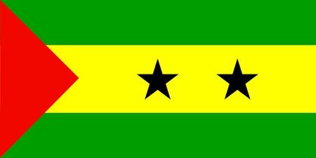 tomo: Bandiera di S�o Tom� e Pr�ncipe, nazionale paese simbolo illustrazione
