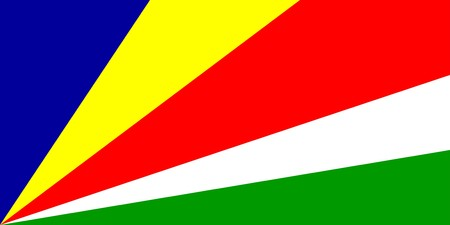 Flag of Seychelles, national country symbol illustration Stock Illustration - 3981017