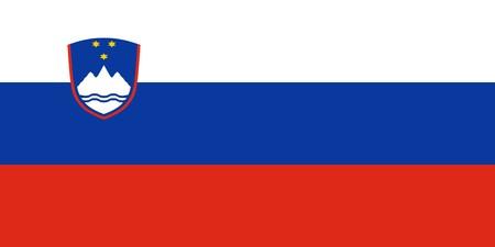 Flag of Slovenia, national country symbol illustration illustration