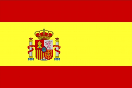 flag of spain: Flag of Spain, national country symbol illustration Stock Photo