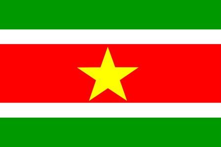 Flag of Suriname, national country symbol illustration illustration