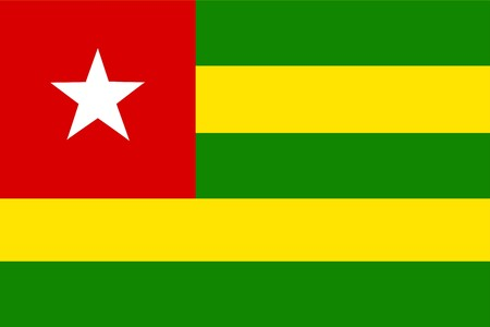 Flag of Togo, national country symbol illustration illustration