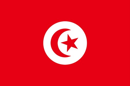 tunisia: Flag of Tunisia, national country symbol illustration Stock Photo