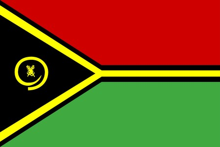 vanuatu: Flag of Vanuatu, national country symbol illustration