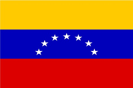 Flag of Venezuela, national country symbol illustration illustration