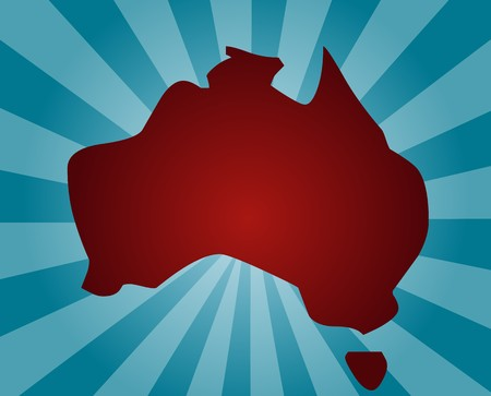 graphical: Map of Australia, abstract graphical design illustration Stock Photo