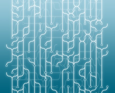 Abstract Illustration Of Circuitry Electronic Pattern Design Stock ...