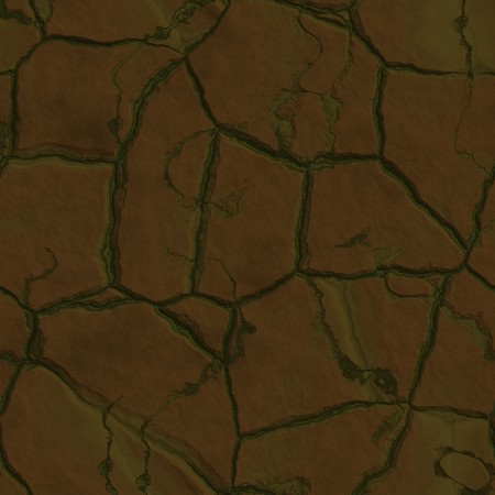 hard crust: Cracked parched earth ground surface texture illustration Stock Photo
