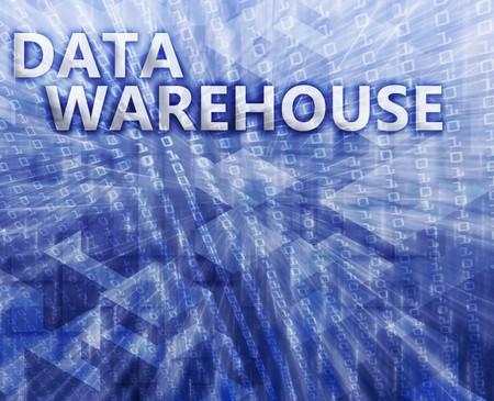 data warehouse: Almac�n de datos resumen, la tecnolog�a de la computaci�n concepto de ilustraci�n