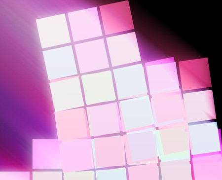 stacked: Abstract wallpaper illustration of geometric square shapes Stock Photo