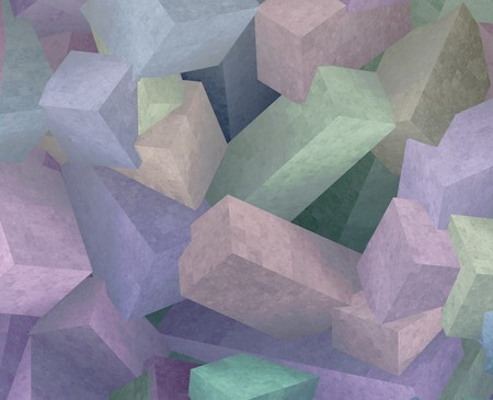 sugar cube: Crystal 3d cubes abstract background design illustration