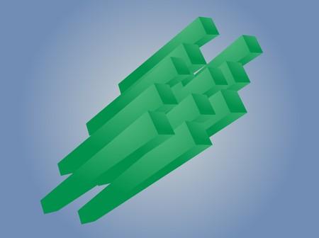 Abstract 3d geometric rectangular cluster shape illustration illustration