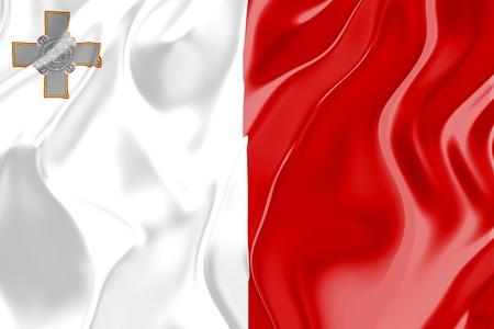 malta: Flag of Malta, national country symbol illustration