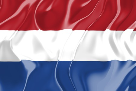 Flag of Netherlands, national country symbol illustration illustration