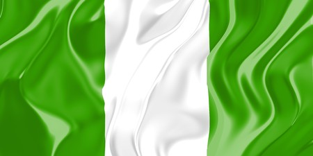 country nigeria: Flag of Nigeria, national country symbol illustration