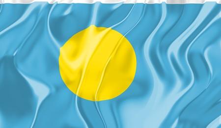 Flag of Palau, national country symbol illustration illustration