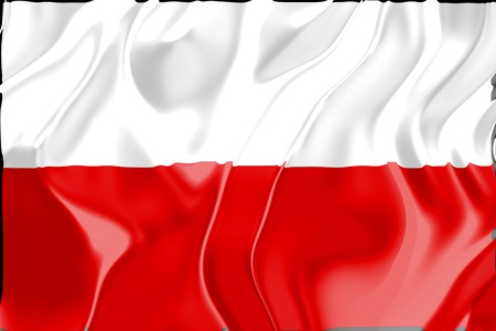 Flag of Poland, national country symbol illustration illustration