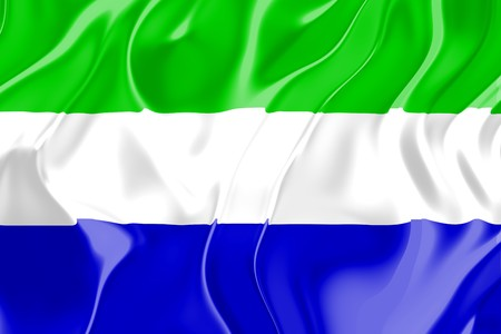 Flag of Sierra Leone, national country symbol illustration illustration