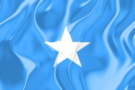 somalia: Flag of Somalia, national country symbol illustration