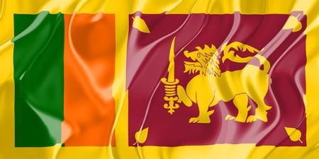 lanka: Flag of Sri Lanka, national country symbol illustration