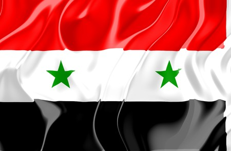 Flag of Syria, national country symbol illustration illustration