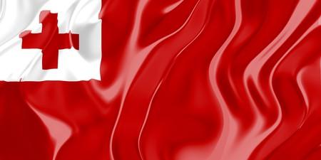 tonga: Flag of Tonga, national country symbol illustration Stock Photo