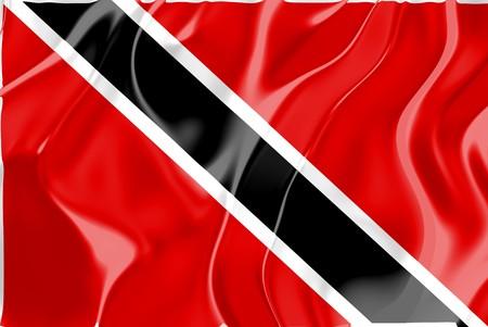 trinidad and tobago: Flag of Trinidad and Tobago, national country symbol illustration