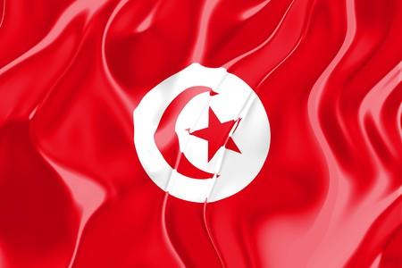 Flag of Tunisia, national country symbol illustration Stock Illustration - 4183193